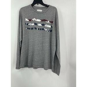Sol Los Angeles XL Men's Grey Crew Neck T-Shirt